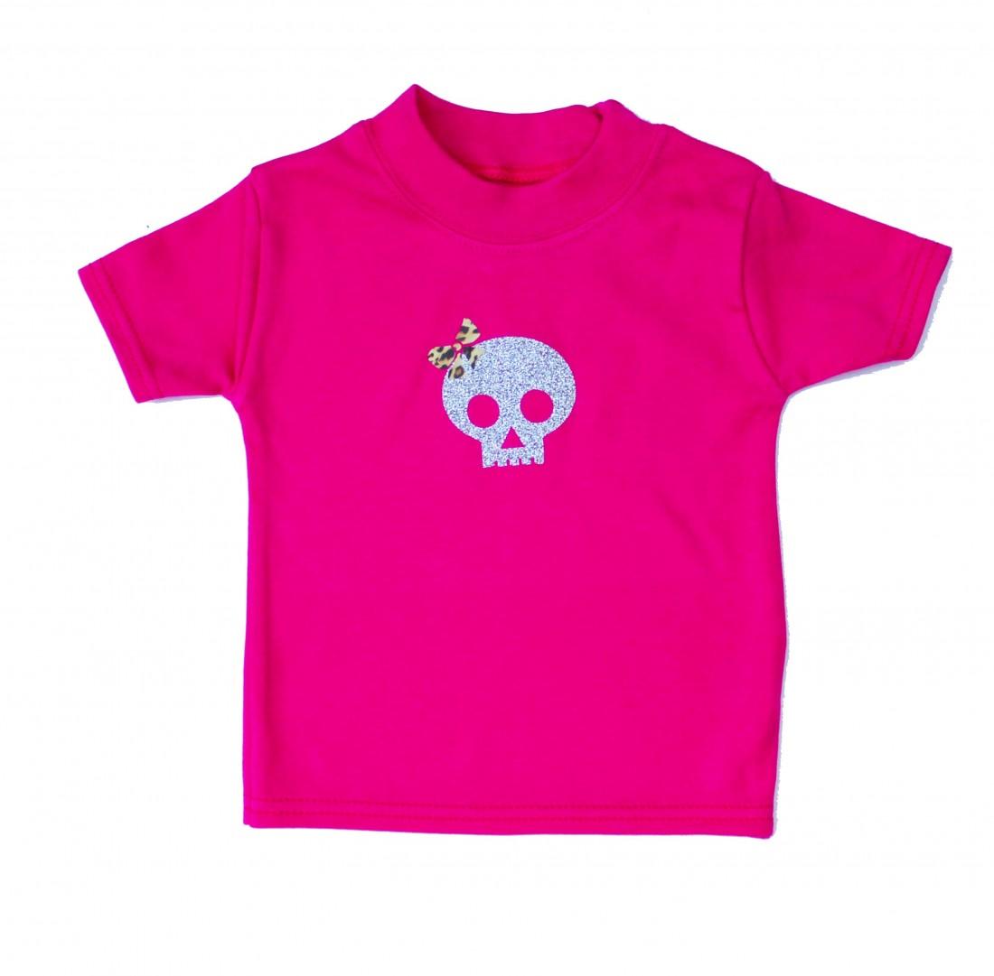 punk girls baby toddler top skull baby t shirt. Black Bedroom Furniture Sets. Home Design Ideas