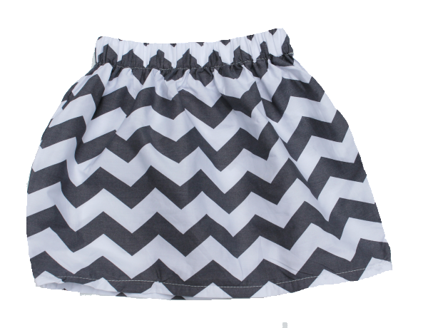 Funky Girls Skirt, Chevron, Toddler