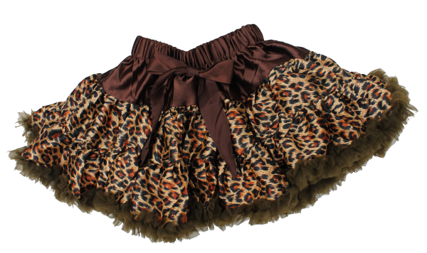 Leopard Print Petti Skirt, Toddler Skirt, Animal Print