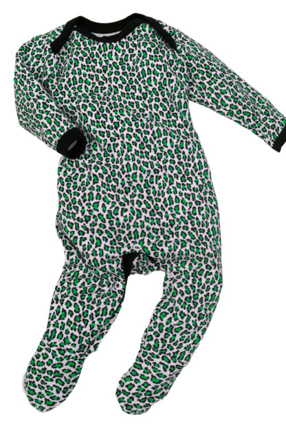 Animal Print Baby Sleepsuit Green Romper Outfit