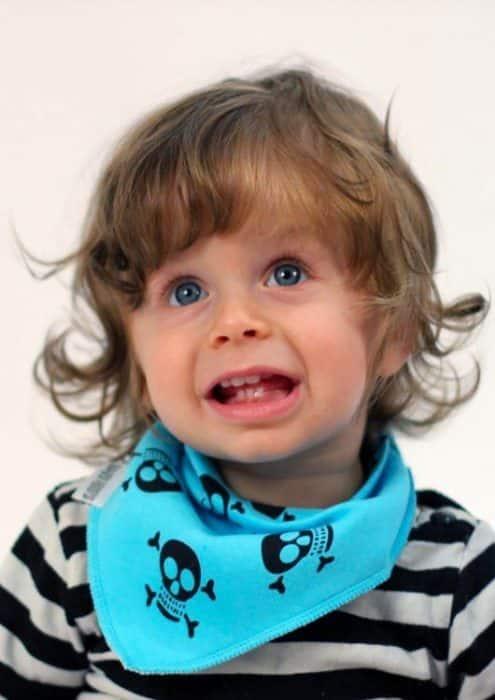 Funky Blue Dribble Bibs - Skull & Crossbones Cool Baby Bibs