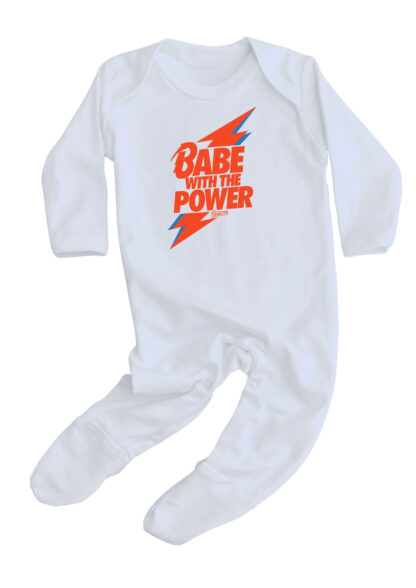 Bowie Baby Sleepsuit Babe With The Power