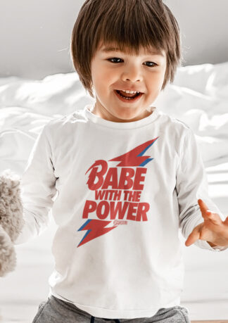 Babe With The Power Long Sleeve Kids T-Shirt