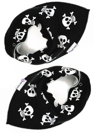 Black White Bandana Bibs Alternative Baby Bib
