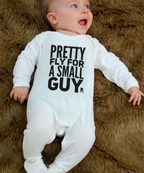 Cool Baby Boy Sleepsuit, Pretty Fly For A Small Guy Funny Baby Boy Onesies