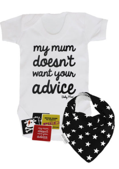 Funny Baby Gift Set, Monochrome Baby Outfit