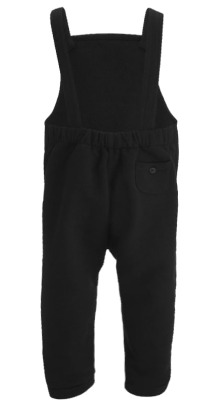 Black Funky Baby & Toddler Dungarees