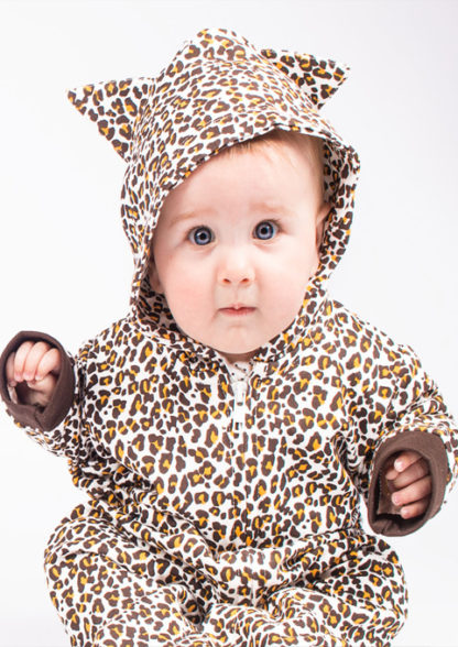 Leopard Print All In One / Leopard Baby Onesie / Romper Costume Idea