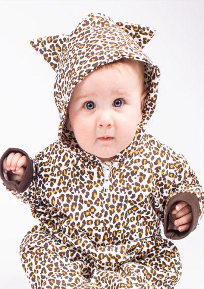 Leopard Print All In One / Leopard Baby Onesie / Romper Costume Idea