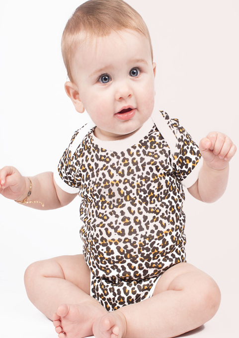 Leopard Print Baby Grow, Animal Print Baby Bodysuit UK