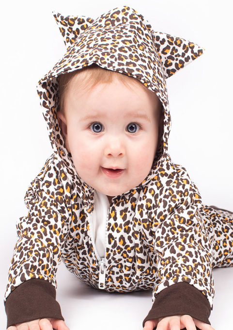 Cute Leopard Print All In One / Leopard Baby Onesie / Romper Baby Costume Idea