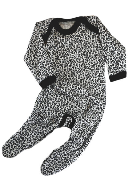 Leopard Print Baby Sleepsuit