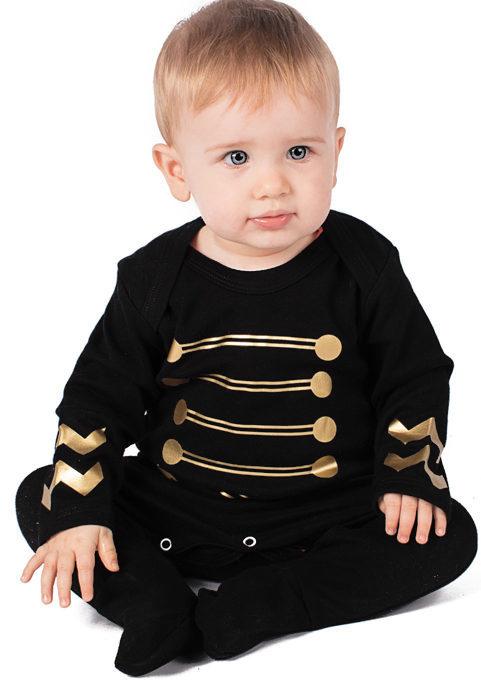 Military Baby Clothes - Jimi Hendrix Style Baby Sleepsuit