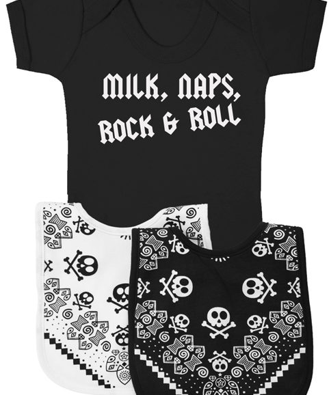 Rock n Roll Music Lover Unique Cool Baby Gift Set