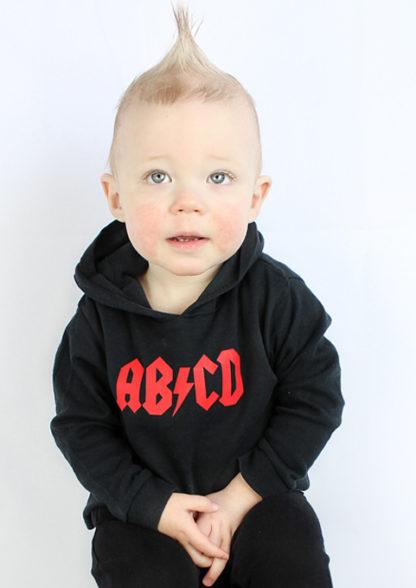 AB/CD Rock n Roll Kids Hoodie Rock Music Kids Clothes ACDC