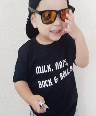 Rock & Roll Kids T-shirt, Black Short Sleeved Kids Top, UK made