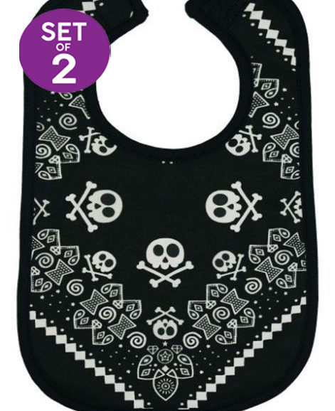 Rock Star Baby Bibs Set of 2 Rock n Roll