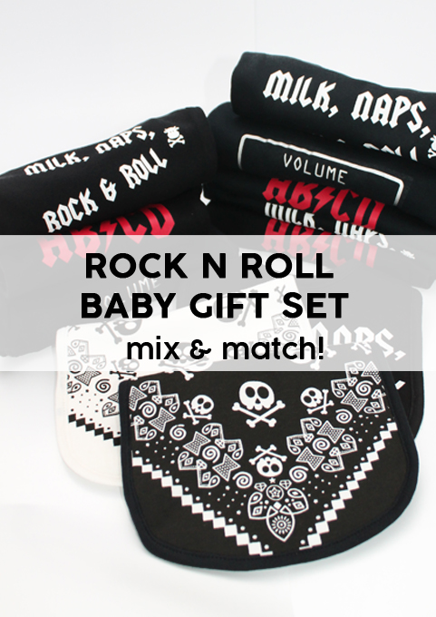 Rock n Roll Baby Gift Set, Mix & match rock music baby shower gift idea