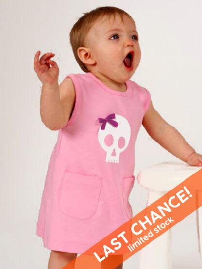 Skull & Bow Baby Dress Girl Alternative Toddler Clothes