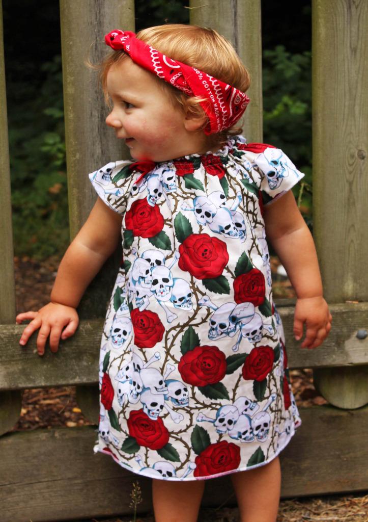 Rockabilly Baby Dress Skull Amp Roses Baby Amp Kids Dress