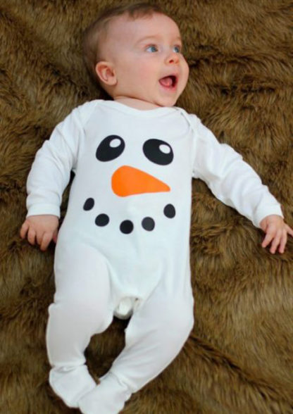 Olaf Baby Outfit 1st Christmas Baby Sleepsuit