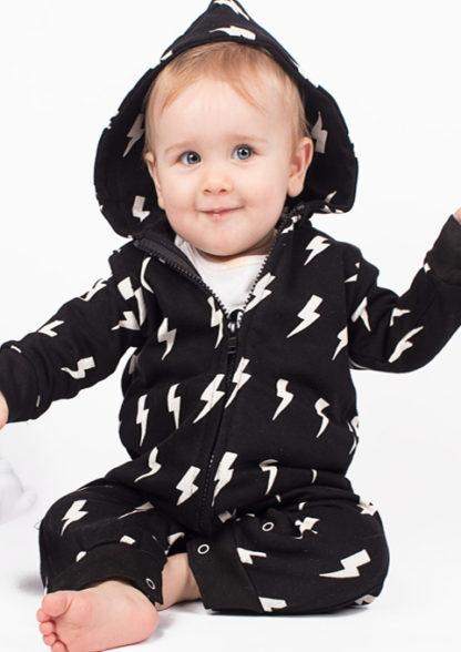 Trendy Baby Romper, Monochrome Baby Boys or Girls Onesie
