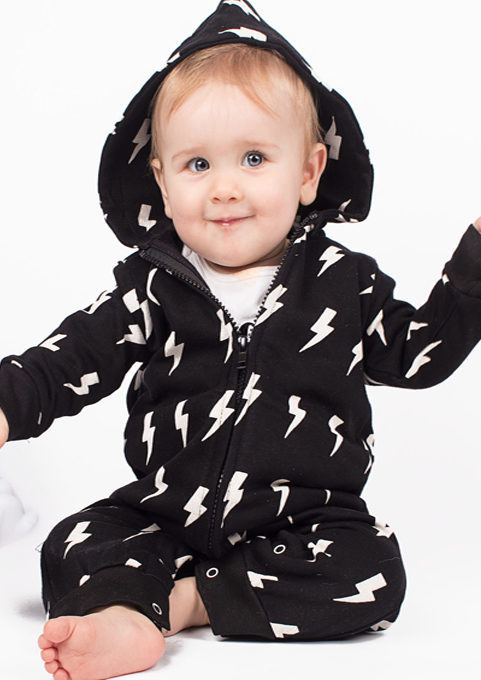 Trendy Baby Romper, Monochrome Baby Boys or Girls Onesie