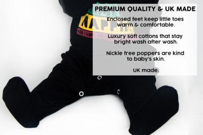 Fun & Funny Baby Sleepsuits Boy Girl Uk Made