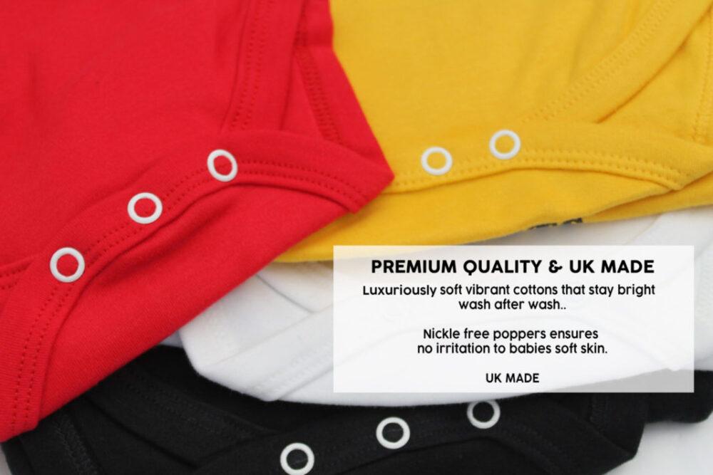 UK made Funky Baby bodysuit vests