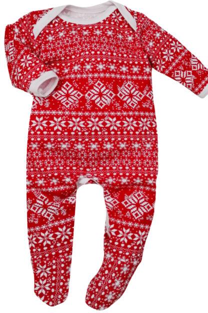 Winter Fair Isle Baby Sleepsuit Outfit Romper