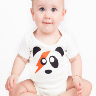 Ziggy Stardust Baby Grow, Short Sleeved David Bowie Bodysuit