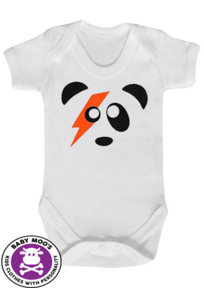 Ziggy Stardust Baby Grow Panda Bodysuit