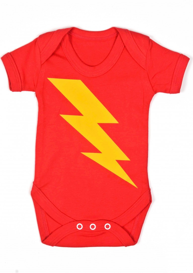 Superhero Baby Grows UK Superhero Bolt Cool Baby Grow