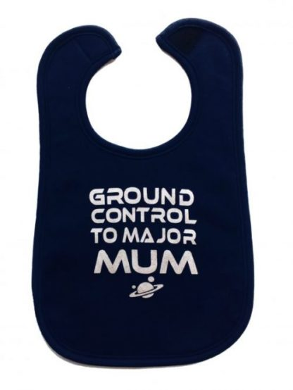 David Bowie Baby Bib & Ziggy Stardust Navy Space Oddity Inspired Baby Bib in Navy