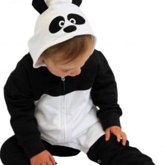 Panda Baby Clothes Onesie, Hooded Panda Romper With Ears & Hood