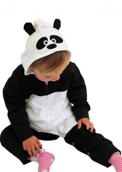 Panda Baby Clothes Onesie, Hooded Panda Romper With Ears & Hood