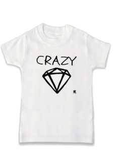 Pink Flod inspired monochrome kids t-shirt, Crazy Diamond Slogan Print