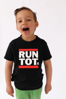 Hip Hop Kids T-shirt, RUN DMC style slogan print