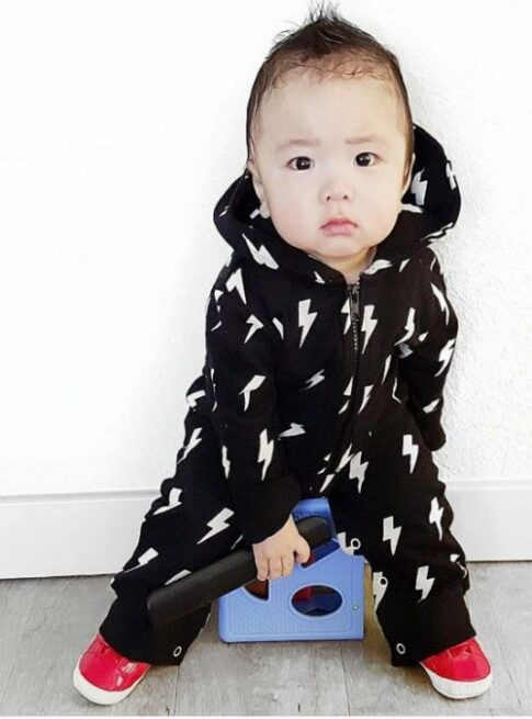 Trendy Monochrome Toddler Onesie