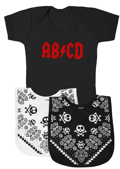 Funny Baby Gift Set alternative to baby gift basket AB/CD AC/DC