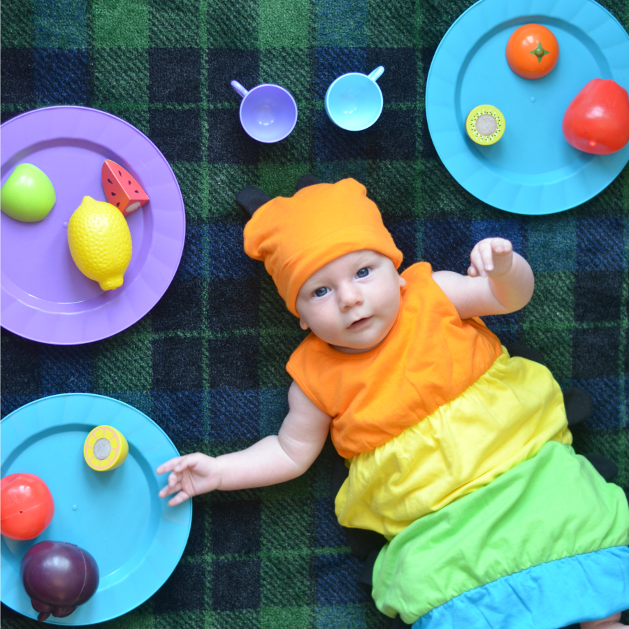 Caterpillar Baby Costume, Rainbow Cute Baby Bundler