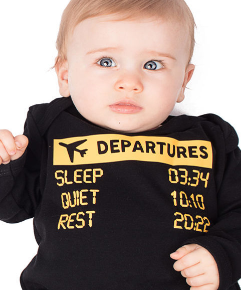 Airline Novelty Baby Sleepsuit, Funny Pilot Baby Outfit