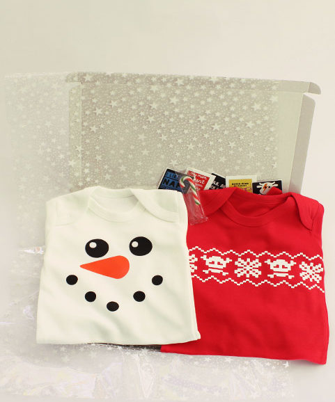 Christmas Baby Gift Set, Two Baby's First Christmas Outfits