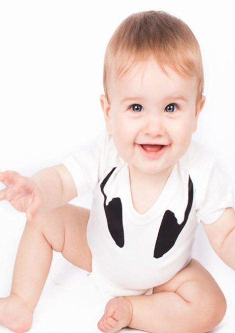 Headphones DJ Cool Baby Grow / Bodysuit, White Short Sleeves