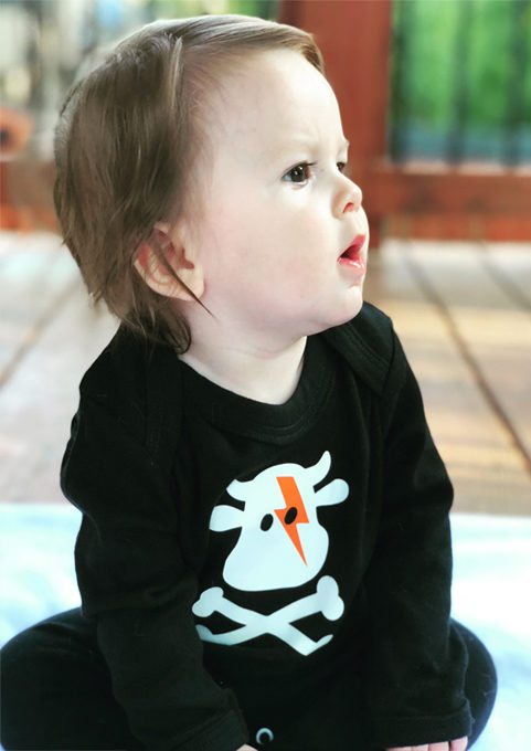 David Bowie Baby Outfit Gift