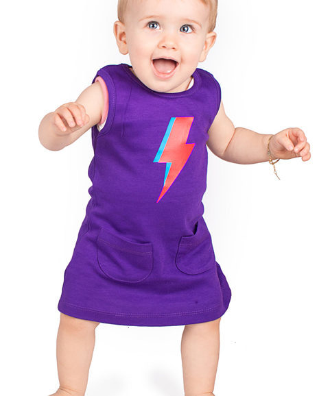 Ziggy Stardust Bolt Baby Trendy Girls Dress