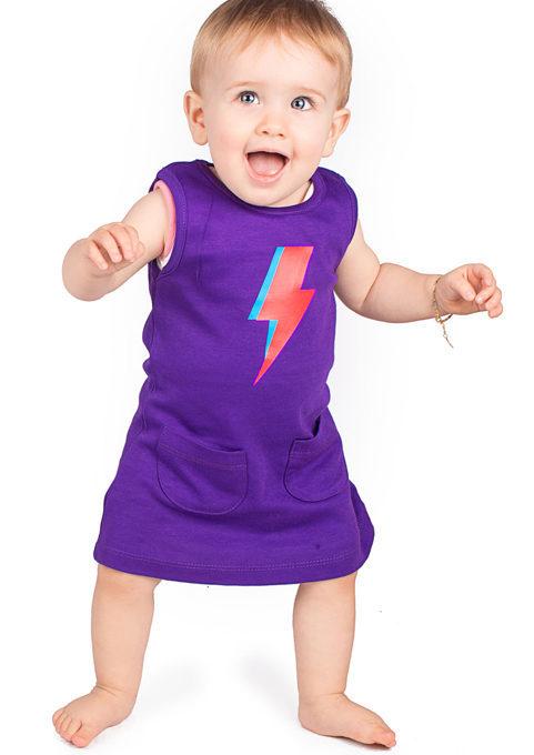 Ziggy Stardust Bolt Baby Trendy Girls Dress