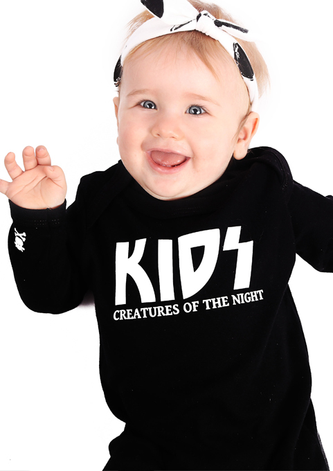 Kiss Baby Sleepsuit, KIDS Creatures of The Night