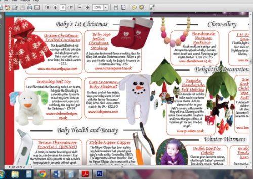 Mummy & Me Magazine Dec 13, Snowman Cute Baby Sleepsuit