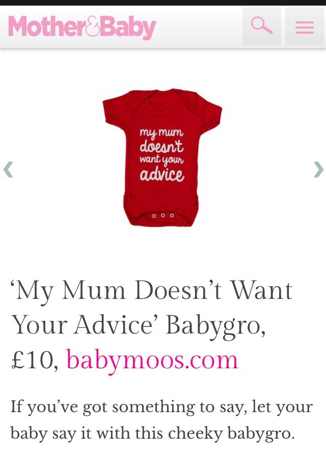 4ca1edeeb2b1a Funny Baby Grow | My Mum Doesn't Wan't Your Advice Vest | Baby Moo's